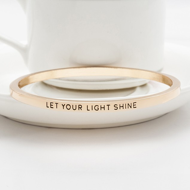 Let Your Light Shine Bangle Bracelet - 2 Colors
