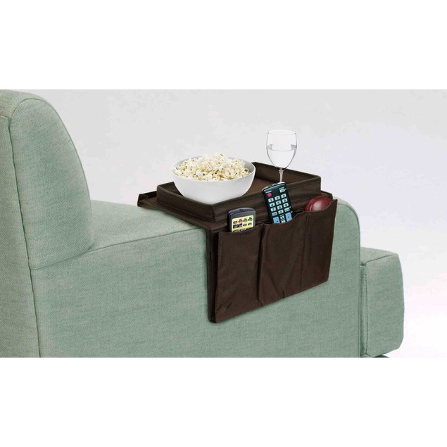 5-Pocket Arm Chair Organizer w/ Arm Rest Tray