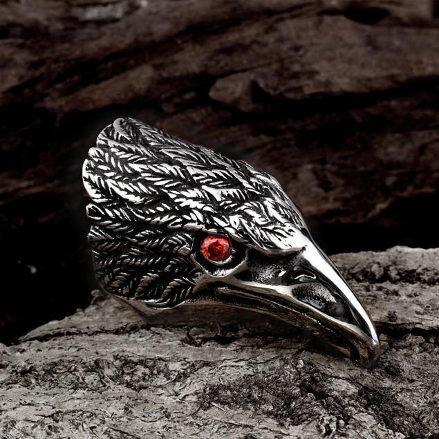 The Falcon's Beak Stainless Steel Ring