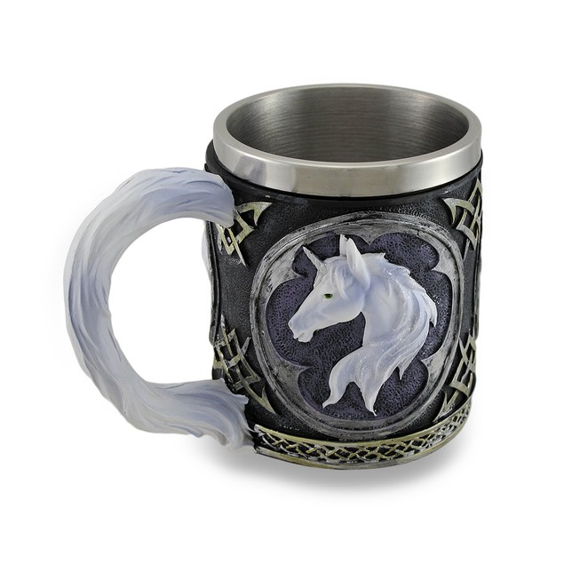 White Unicorn Drinking Tankard Tribal Coffee Cup Beer Mugs