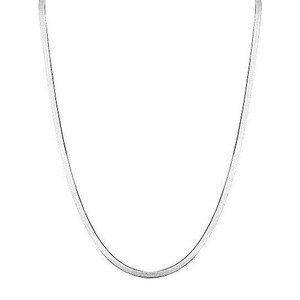 Sterling Silver 4mm Italian Herringbone Necklace