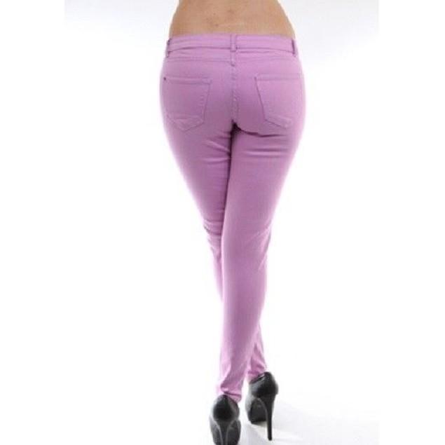 Light Purple Super Skinny Jeans Juniors Straight Leg New With Tags