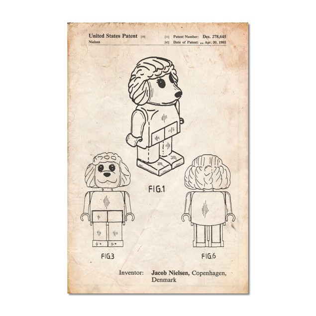 Lego Poodle Patent Poster