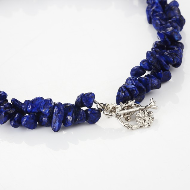 Ocean Blue Turquoise Pebble Necklace