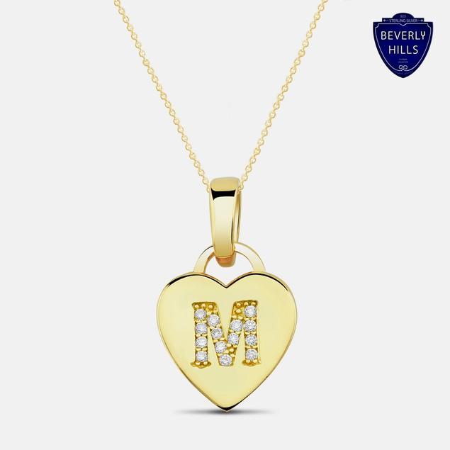Designer Inspired Gold Plated Initial Pendant