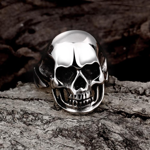 Stainless Steel Medium Shaped Skull Ring