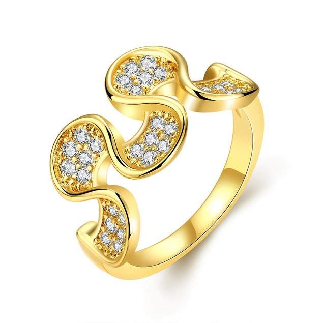 Gold Plated Harp Shaped Ring