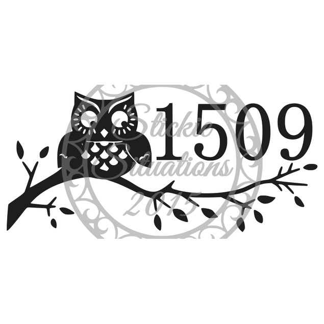 Owl Vinyl Mailbox Decal Design 27