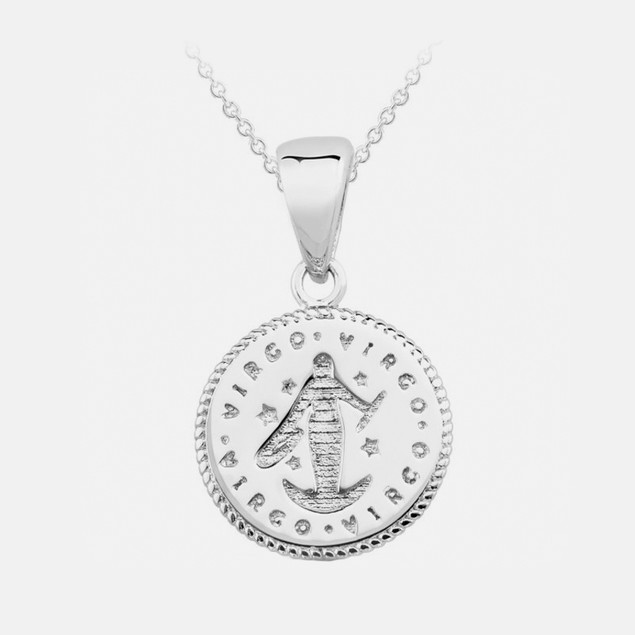 Inspired Sterling Silver Zodiac Pendant - Virgo