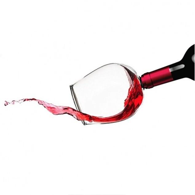 Magnum Gulp Drink a Wine Bottle Glass Gag Gift