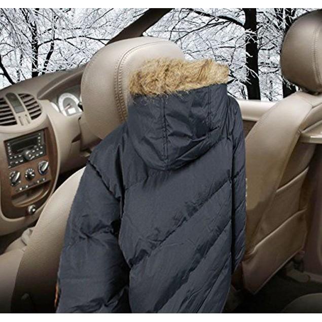 Zone Tech Travel Valet Luxury Genunine Wooden Car Coat Headrest Hanger