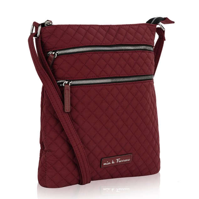 MKF Collection Geraldine Quilted Messenger Crossbody Bag by Mia K. Farrow