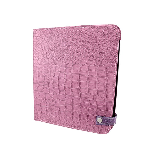 Purple Mock Croc Ipad Cover/Stand Touch Screen Tablet Computer Stands