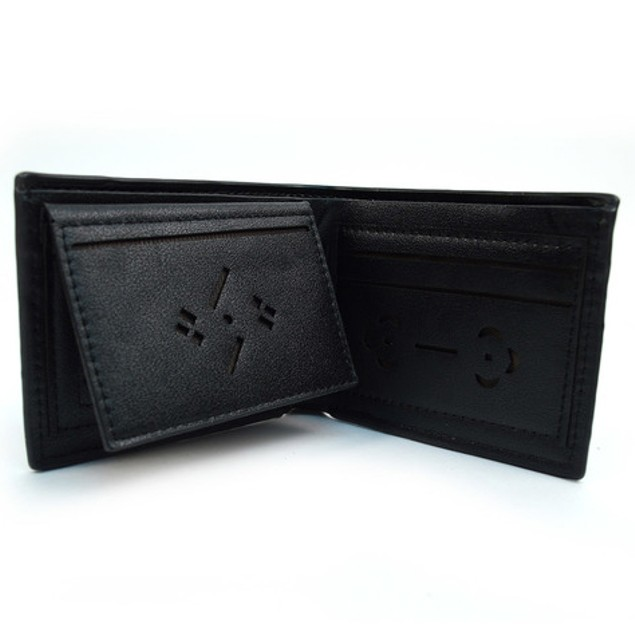 Men's Black Bi-Fold Wallet & 2 Pens Set