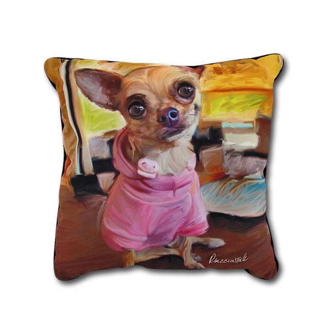 Robert Mcclintock Chihuahua Bella Decorative Throw Throw Pillows