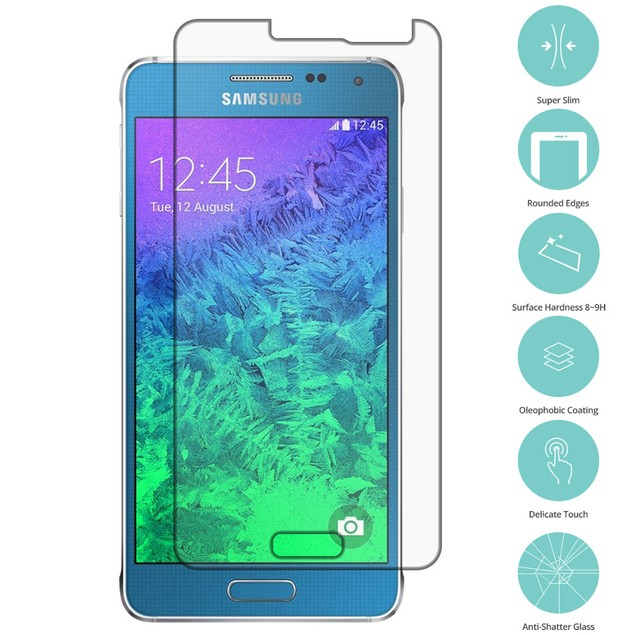 Samsung Galaxy Alpha G850 Tempered Glass Film Screen Protector Clear