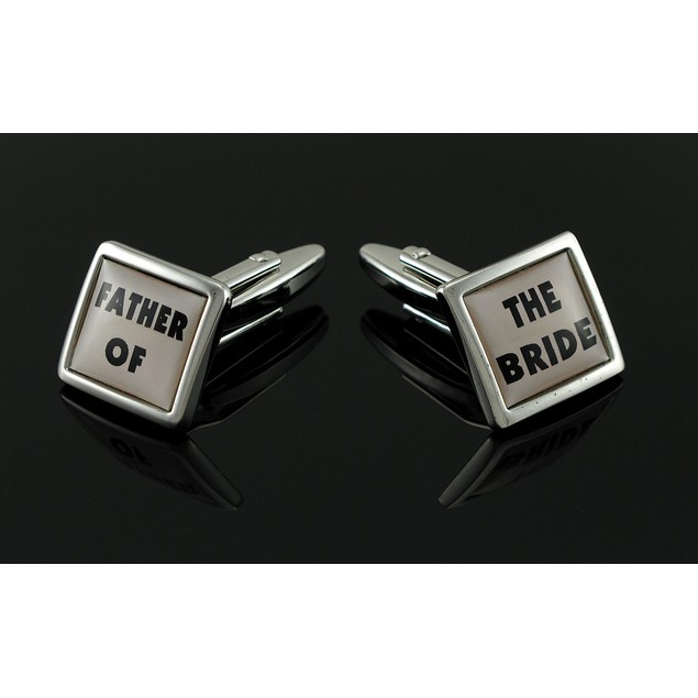 `Father Of The Bride` Stainless Steel Cufflinks Mens Cuff Links