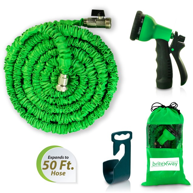 BriteNway Expandable Garden Hose - 50 ft.  w/ Function Nozzle Included