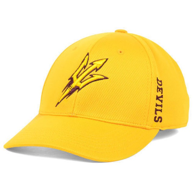 "Arizona State Sun Devils NCAA TOW Yellow ""Booster"" Memory Fitted Hat"