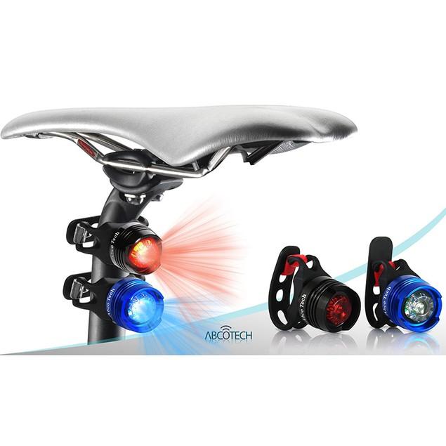 LED Bike Light Set - 2 Valve Wheel Lights and 2 Rear Lights