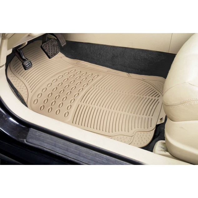 Zone Tech Beige Universal Fit  Car Vehicle Floor Mats