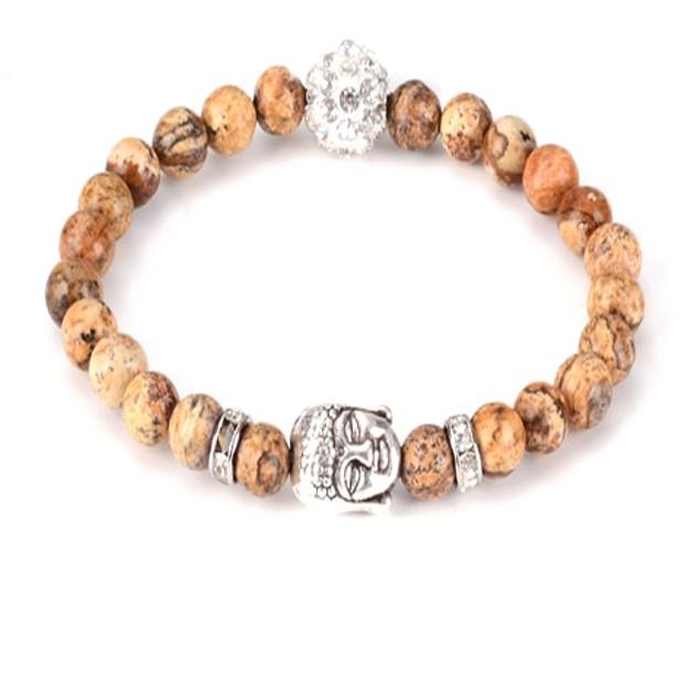 Buddha Head Bead Bracelet