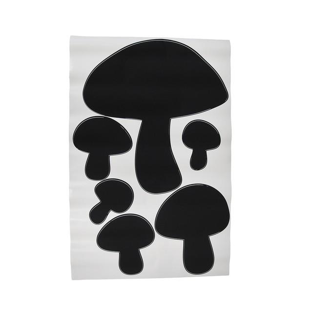 Children`S Chalkals Mushrooms Chalkboard Wall Wall Decor Stickers