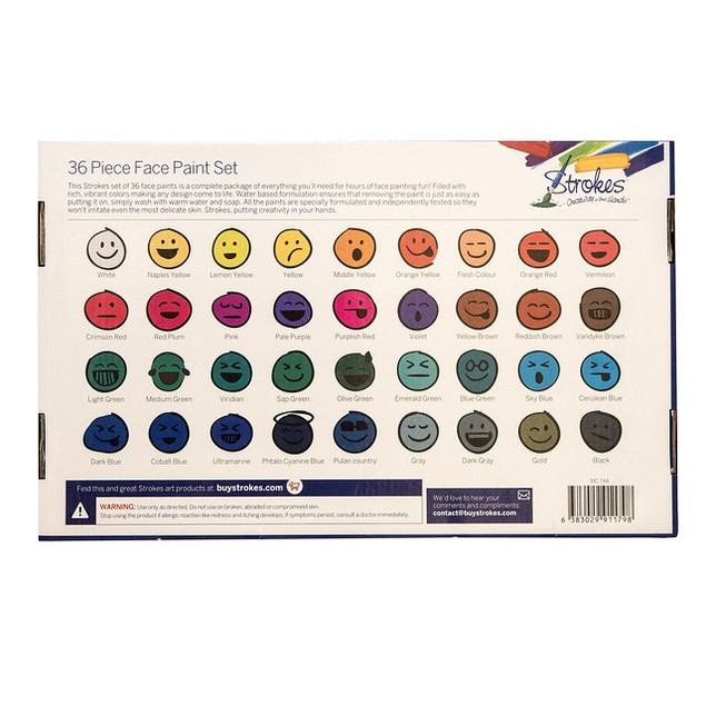 36-Pack Strokes Art Face & Body Crayons