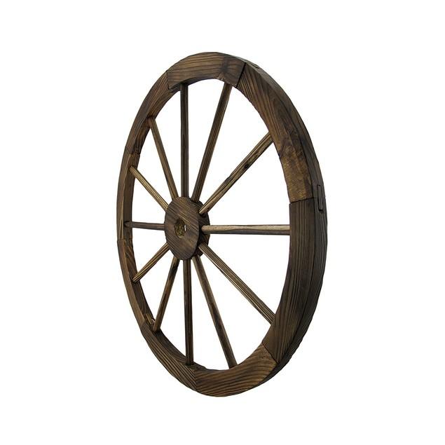 Wooden Wagon Wheel Decorative Wall Hanging Room Wall Sculptures