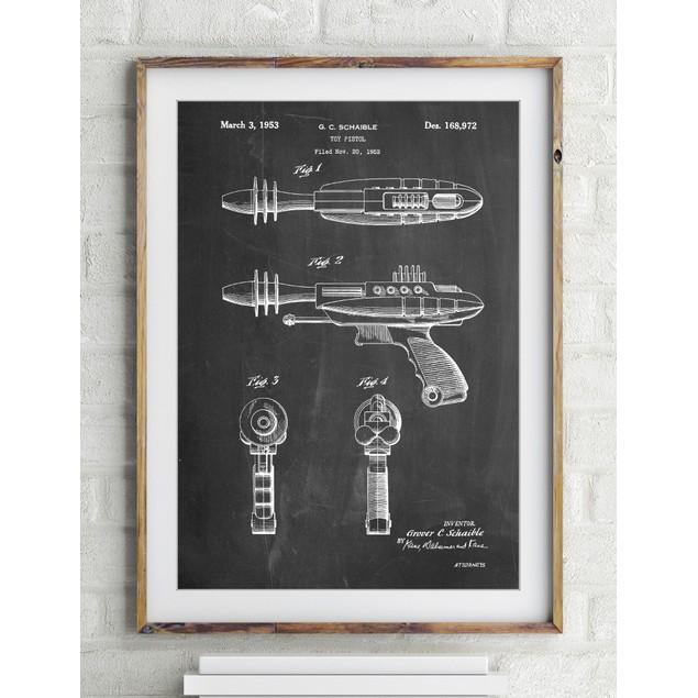 Toy Laser Gun Patent Print