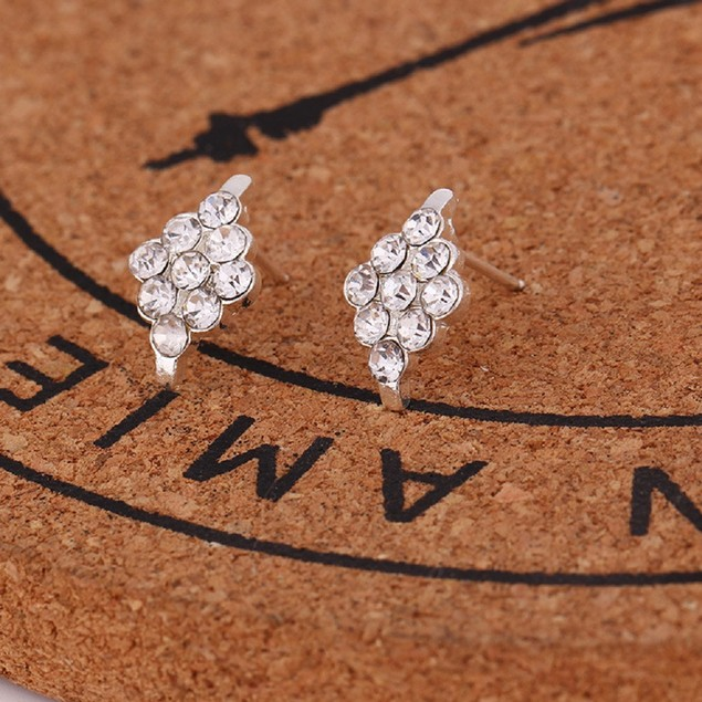 Silver Tone Chandalier Shaped Earrings