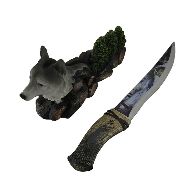 Spirit Wolf Decorative Fantasy Knife With Hand Letter Openers
