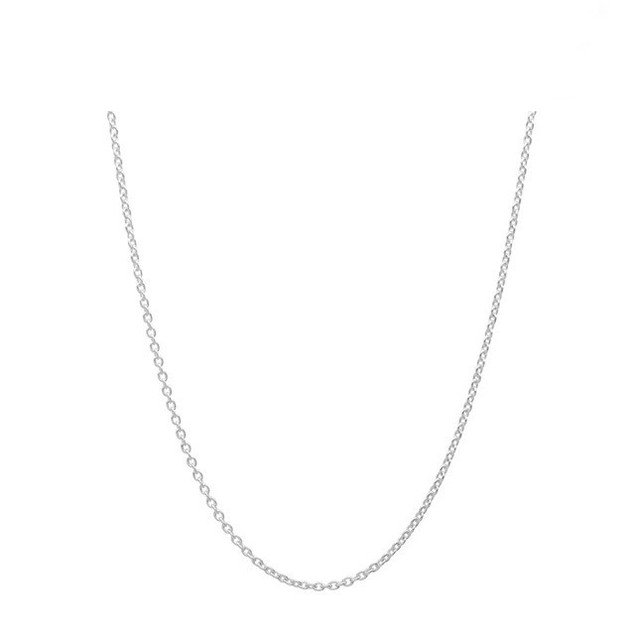 "Sterling Silver 0.5mm Italian Cable Chain, 16""-20"""