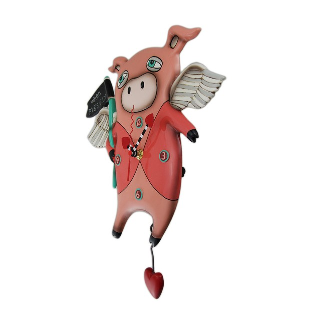 Allen Designs When Pigs Fly Pendulum Wall Clock 13 Wall Clocks