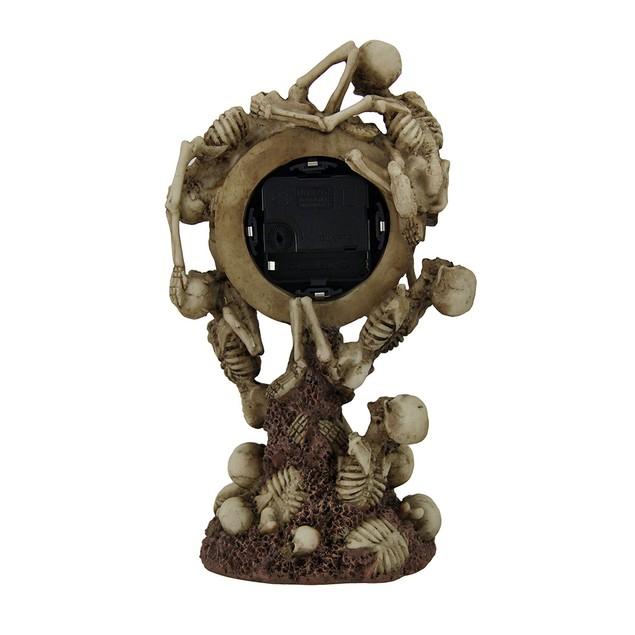 Time To Rise Climbing Skeletons Decorative Table Clocks