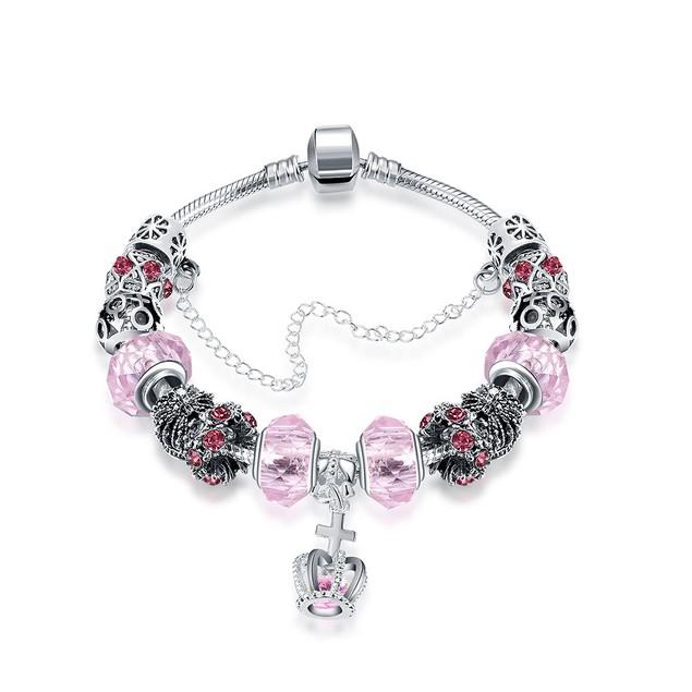 Royal Coral Crown Jewel Designer Inspired Bracelet