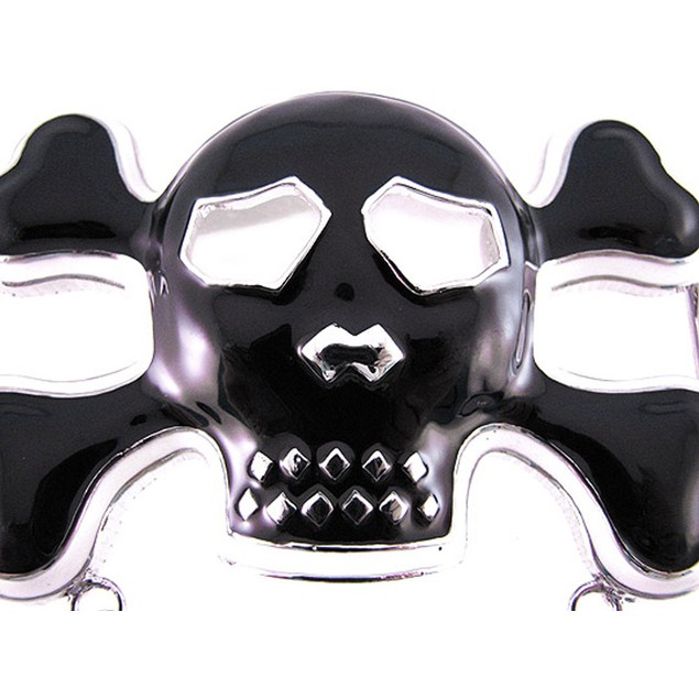 Black / White Enamel Punk Rock Skull Belt Buckle Mens Belt Buckles