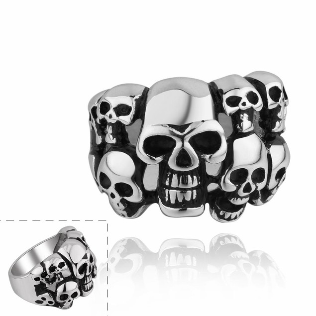 Skull's Army Stainless Steel Ring