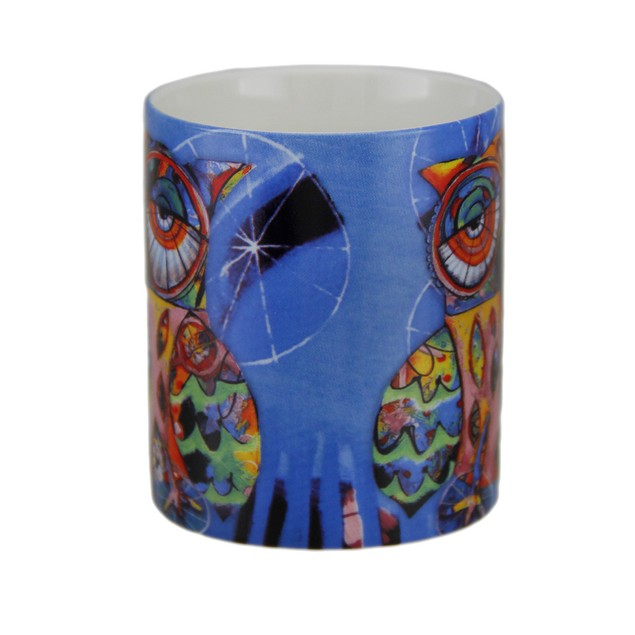 Allen Designs Colorful Owl Ceramic Coffee Cup 10 Coffee Cups