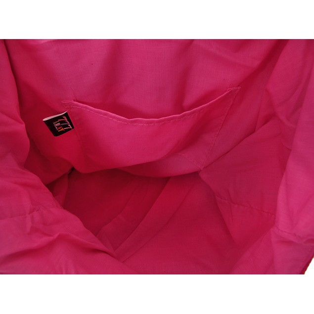 Bright Neon Pink Cotton Canvas Sling Bag Womens Shoulder Handbags