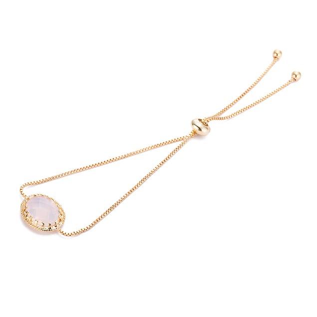 Gold Plated Pink Crystal Classic Gem Bracelet