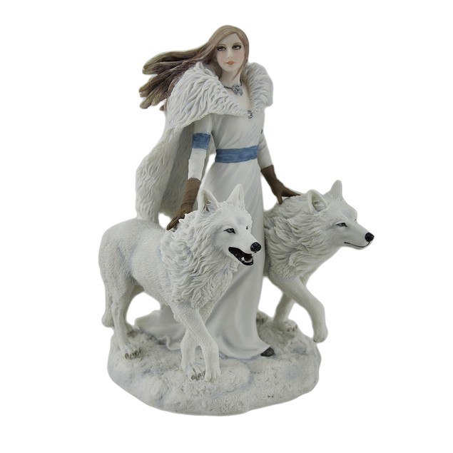 Winter Guardians By Anne Stokes Snow Wolves And Statues