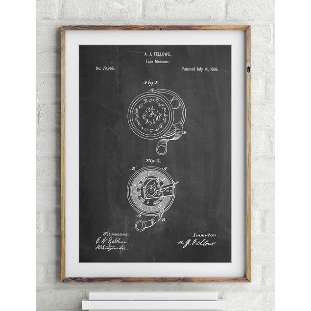 Tape Measure 1868 Patent Poster