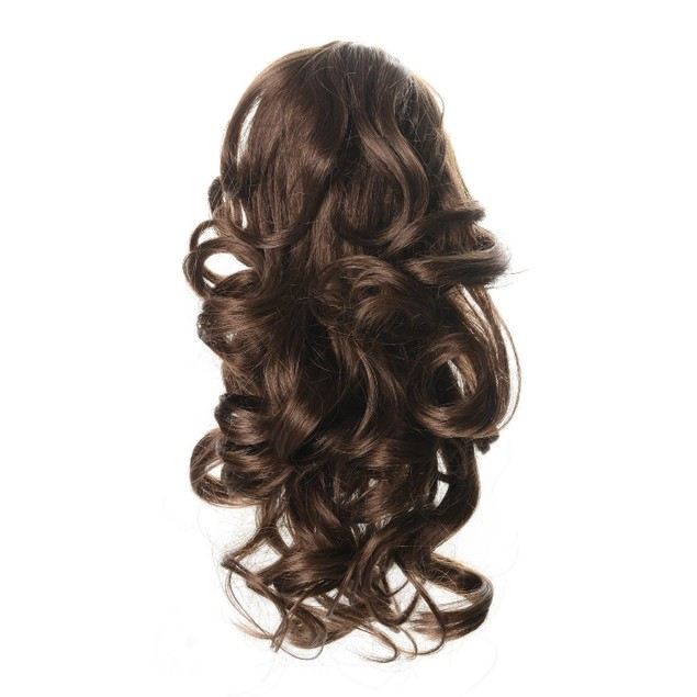 """OneDor 12"""" Short Curly Clip in Claw Ponytail"""