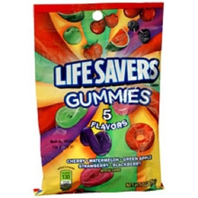 Lifesavers Gummies Five Flavor Gummi Savors Original Flavor Mix 7 oz Bag