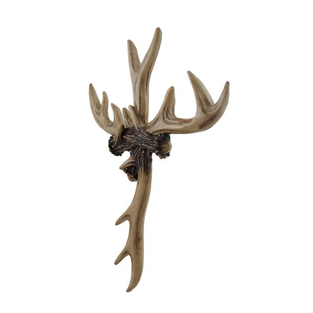 Rustic Deer Antler Wall Cross Lodge Cabin Decor Wall Crosses