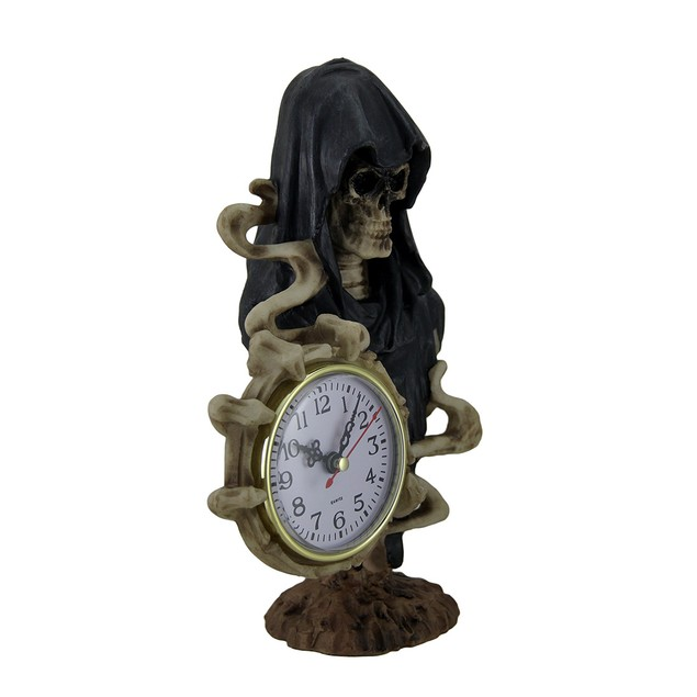 Time Of Darkness Grim Reaper Holding Clock Table Clocks