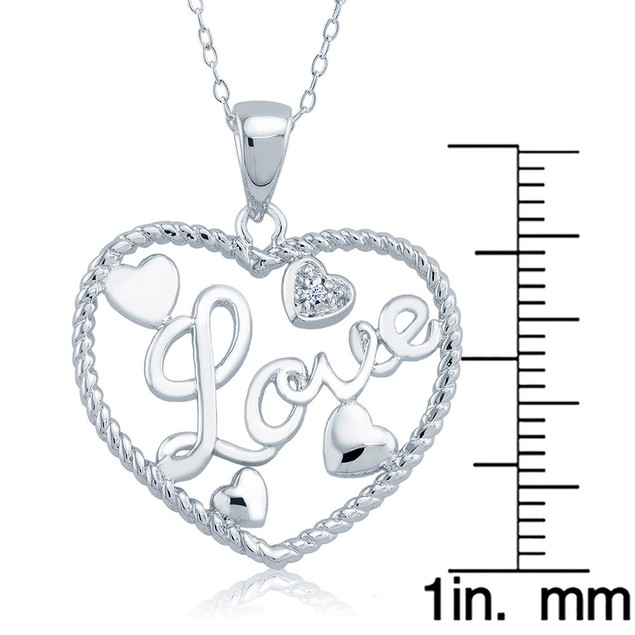 1/10cttw Diamond Accent Full of Hearts Heart Necklace