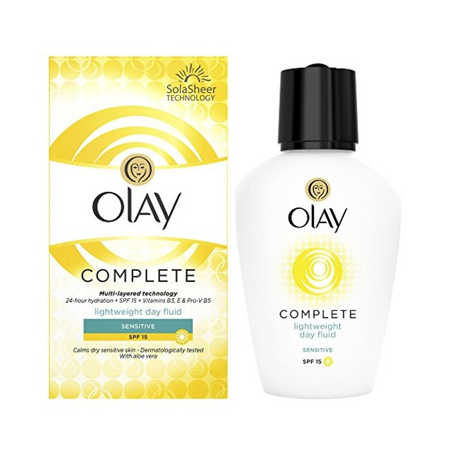 Olay Complete Lightweight Day Fluid for Sensitive Skin, SPF 15 (3.4 Oz)