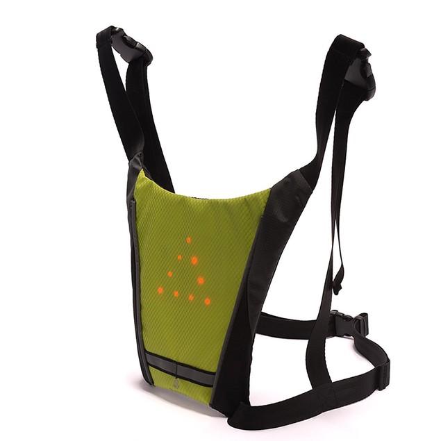 Rechargeable Flash LED Reflective Vest for Biking, Jogging & More!